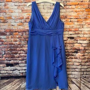 Blue Silk flow Donna Morgan Lined Sleeveless dress